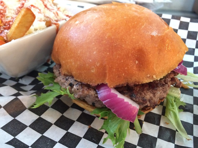 You can't go wrong with a Straight Up Burger.  - PHOTO BY LORRETTA RUGGIERO