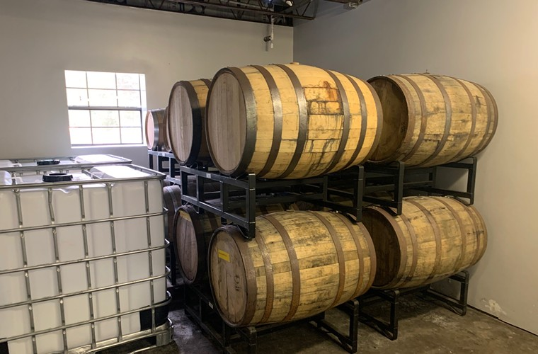 Highway is planning to release some limited-edition hemp-based whiskey that is currently aging in American oak barrels. - PHOTO BY ERIKA KWEE