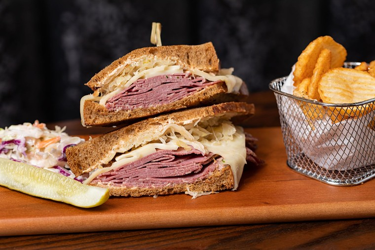 The Astoria Rueben loads up on the good stuff. - PHOTO BY SHAWN CHIPPENDALE