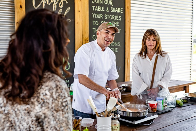 """""""Cook the Harvest"""" and learn to make pasta with chef Carlos Meltzer at Hope Farms. - PHOTO BY KIRSTEN GILLIAM"""