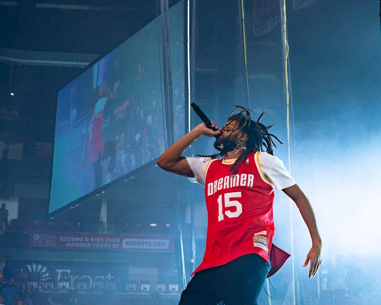 J. Cole made sure everyone knew how much of a basketball fan he is. - PHOTO BY JENNIFER LAKE