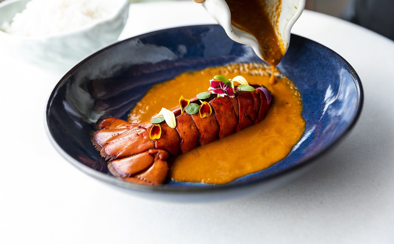 Dishes like the Malwani curry lobster sing at Musaafer.