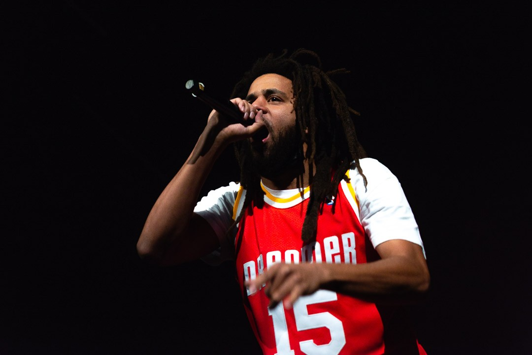 J. Cole performs at Toyota Center.