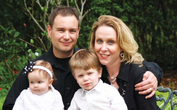 """William """"Bill"""" McCarty with his wife, Penny, daughter, Delani, and son, Declan. - PHOTO COURTESY OF WILLIAM MCCARTY'S CAMPAIGN"""