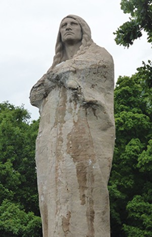 Sculptor Lorado Taft designed a 50-foot statue to honor Native Americans, but the imposing figure overlooking the Rock River is commonly known as Black Hawk, a renowned Sauk nation leader and warrior in the early 1800s.