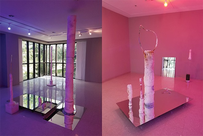 "Pieces from ""digital dusk shadow storage"" by Amanda Bowles. - PHOTOS COURTESY UIS VISIUAL ART GALLERY"