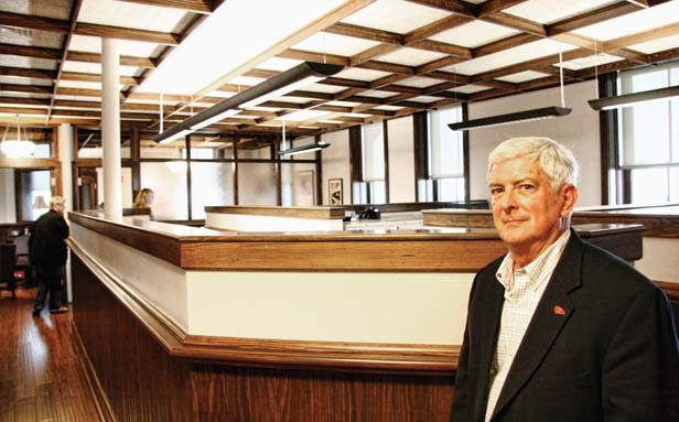 Springfield architect Larry Quenette, owner of Renaissance Architects, helped the Noll family of Springfield renovate the upper level of the Lincoln Depot as the new Noll Law Office. - PHOTO BY PATRICK YEAGLE