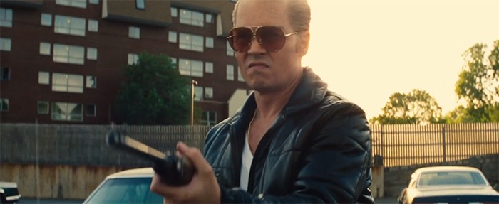 """Whitey Bulger (Johnny Depp) cleans up some loose ends in """"Black mass."""" - COURTESY WARNER BROTHERS"""