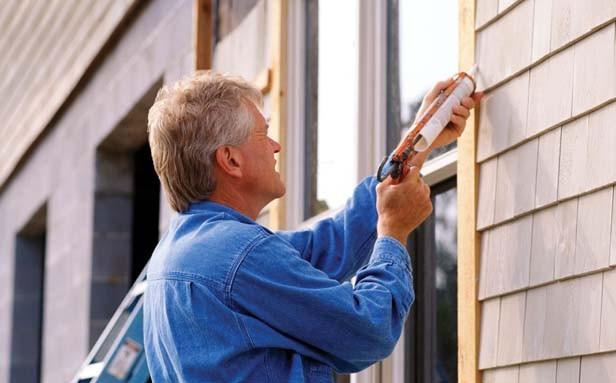Wood trim around doors and windows should be caulked to seal any leaks that can let cold air pass.