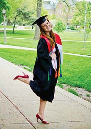By beginning her college education at Lincoln Land Community College and winning scholarships, Natalie Richardson of Athens was able to graduate in May from Illinois State University debt-free. - PHOTO COURTESY OF NATALIE RICHARDSON