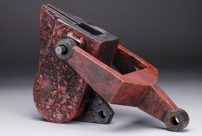 """""""Crucible Series #20"""" by Ken Baskin, the first prize winner at the """"Shapes of Influence"""" exhibit."""
