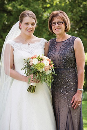 Karen Ackerman Witter, right, with her daughter, Dorothy,  who was married in Washington Park last year. Karen served as guest editor of this year's Capital City Wedding. - PHOTO BY KARI BEDFORD PHOTOGRAPHY