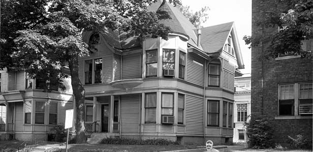 The home Fitzgerald grew up in at 215 E. Jackson in Springfield was torn down in the 1960s to make way for the attorney general's office. - PHOTO OF THE HOUSE PROVIDED BY THE SANGAMON VALLEY COLLECTION