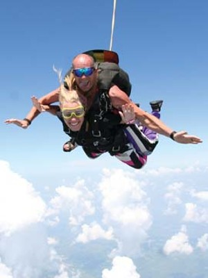 Tandem jumpers experience 45 seconds of free fall before the chute opens.