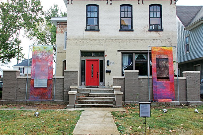 The installation at 713 N. Fourth St., by artists Amanda Bowles and Jesse Vogler. Jeff Robinson is curator.