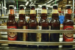 A batch of Pale Ale rolls off the line at the Schlafly Bottleworks brewery in Maplewood, MO. - PHOTO BY HUY RICHARD MACH/TNS