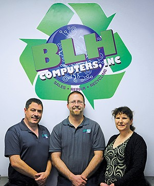 (L-R) Brian Dickerson, Leo Hill and Heather Dickerson - PHOTO BY BRANDON TURLEY