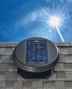 A solar-powered attic fan can be valuable in venting attic heat while generating it's own electricity.