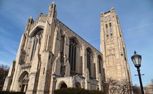 The majestic Rockefeller Memorial Chapel dominates the views of the University of Chicago's campus. - PHOTO BY JOE CAMPER