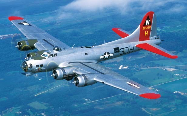 """The Experimental Aircraft Association's B-17, """"Aluminum Overcast,"""" visits more than 60 locations on its annual tour, offering flights and ground tours at each stop."""