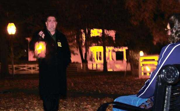"""Garret Moffett leads a variety of walking tours, including """"Lincoln's Ghost Walk,"""" """"Haunted Springfield,"""" and """"Hidden Lincoln."""""""