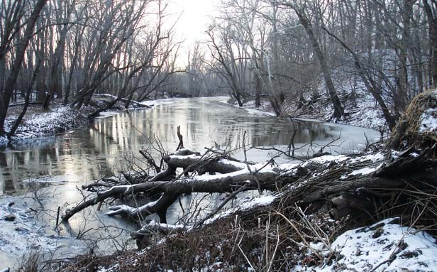 The Sangamon River in winter. - PHOTO BY GINNY LEE