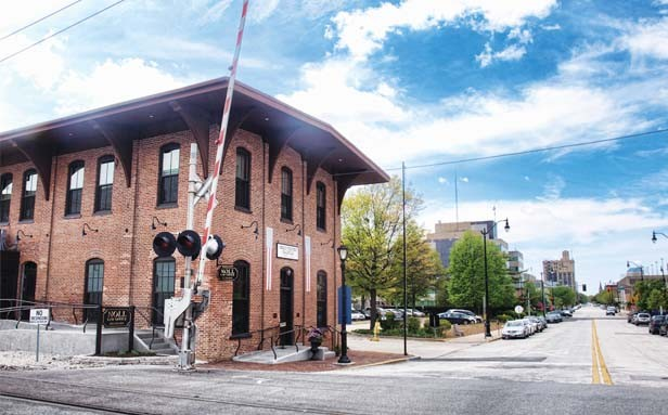 The Lincoln Depot, from which Abraham Lincoln departed Springfield in 1861 to assume the presidency, was recently renovated by the Noll family of Springfield. They preserved the historic aspect of the building at 930 E. Monroe St. while giving it a modern - PHOTO BY DAVID HINE