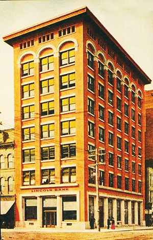 When it was built for $150,000 in 1906, the Ferguson Building housed the Lincoln Bank. - PHOTO COURTESY SANGAMON VALLEY COLLECTION