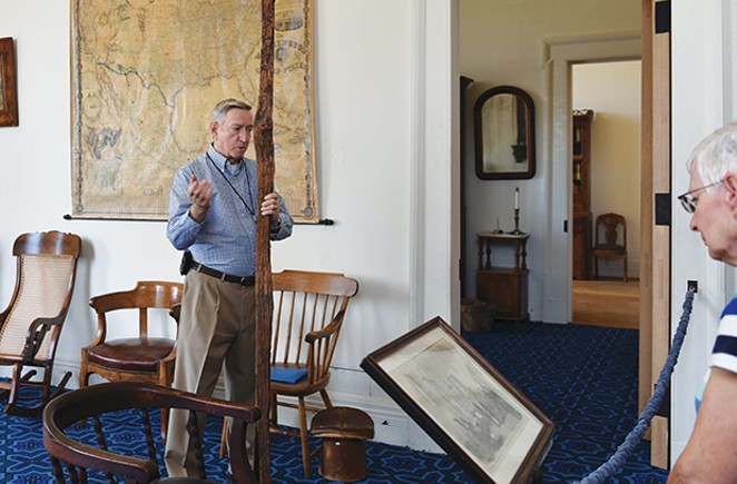 Larry Buhl spends his time volunteering at the Old State Capitol and the Elijah Iles House.