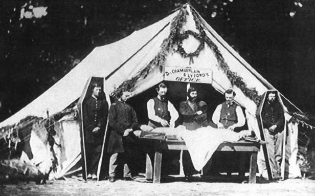 Embalmers traveled from battlefield to battlefield, setting up shop. Prices ranged from $30 for an enlisted man to $80 for an officer.