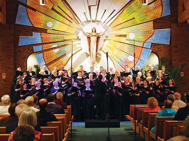 The Springfield Choral Society is shown here performing May 4, 2013, at St. Joseph's Church in Chatham. The chorus is made up of amateur, professional and semi-professional singers with various levels of experience and professional standing ranging - PHOTO BY MARK SMITH