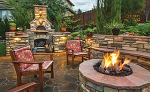 While many people can build their own patios with simple designs, complex designs such as this call for professional help. - PHOTO BY METRO CREATIVE CONNECTION