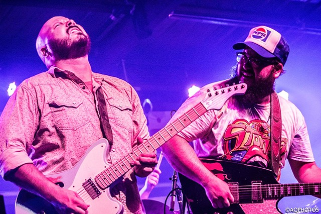 """The Reed Brothers from San Antonio, Texas, tear it up on the Danenberger Family Vineyards """"Wine Rocks"""" stage on Friday, June 1."""
