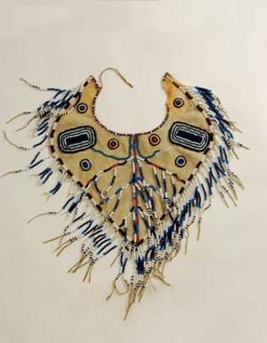 Beaded yoke for a man's outfit: Koyukon (Yukon River area of Alaska) from the late 19th century.