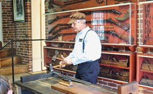 The demonstration of making a gun barrel is one of the highlights of a visit to the Jonathan Browning Gun Shop. - PHOTOS BY JOHN CAMPER