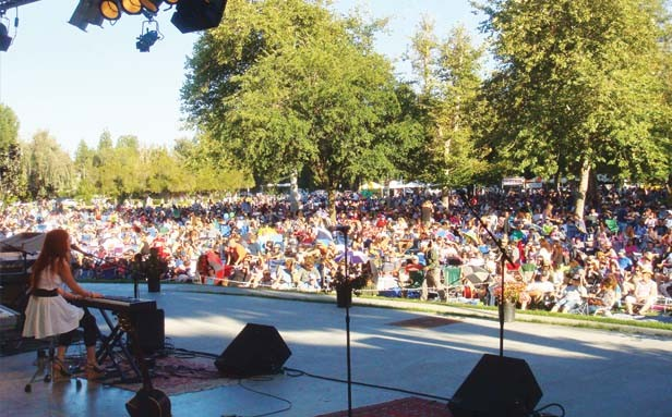 Opening for ABBA at Warner Central Park in Woodland Hills near Los Angeles