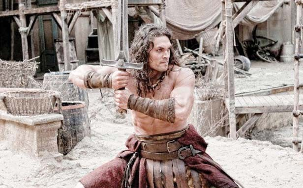 Jason Momoa in Conan the Barbarian.