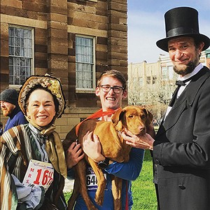 With Buck and Abe at the Lincoln Presidential Half Marathon, April 2017.