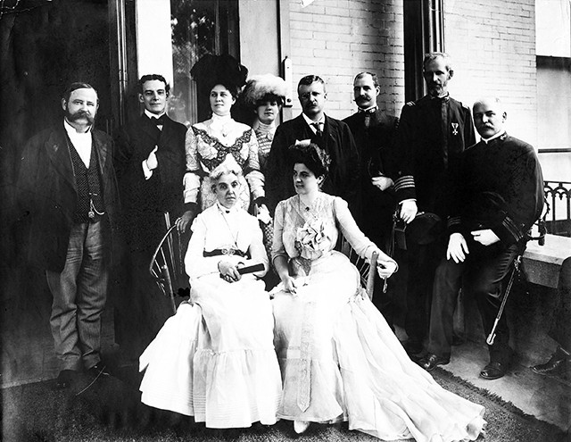 In 1905 Teddy Roosevelt visited the mansion with Governor Yates.