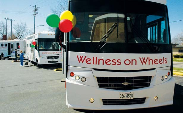 The Illinois Dept. of Public Health operates a fleet of Wellness Wheels vans to take health screenings to where the people are.