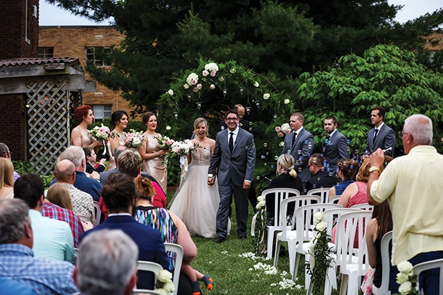 Josh and Taylor Stratton exiting their beautiful ceremony at The Inn at 835. - PHOTO BY HJS PHOTOGRAPHY