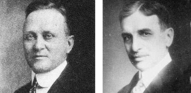 Left: Dr. Albert E. Campbell became health officer for the City of Springfield about a month before the flu epidemic. Right: Dr. C. St. Clair Drake, Illinois director of public health. - PHOTOS PROVIDED BY SANGAMON VALLEY COLLECTION
