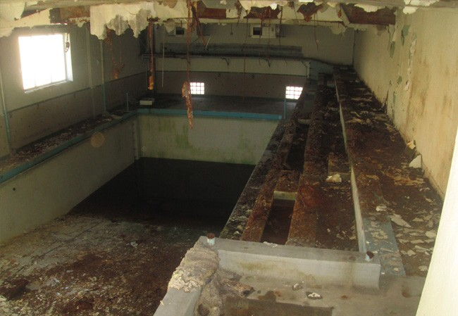 The third-floor pool now catches rainwater from the open roof. - PHOTO COURTESY CITY OF SPRINGFIELD