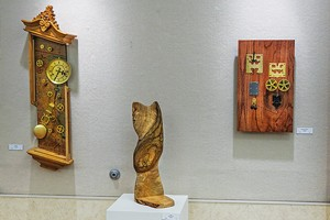 Wood sculptures by Jed Leber.