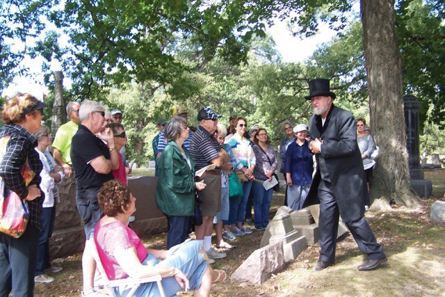 The Sangamon County Historical Society's annual walk through Oak Ridge Cemetery features actors who make history come alive. - PHOTO COURTESY SANGAMON COUNTY HISTORICAL SOCIETY