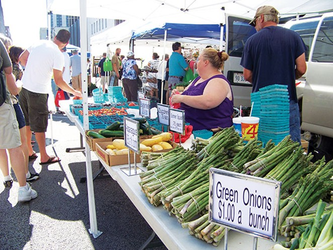 The Old Capitol Farmers Market opens Wednesday and Saturday this week. - PHOTO BY ERICKA HINE