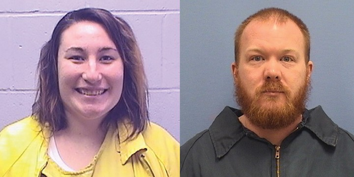Kaylia Fannin, left, and Ryan Motley, a former Logan guard, are both serving time after authorities determined the two had sexual contact in the state's largest women's prison.