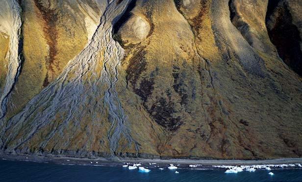 Vertical Shoreline, Bylot Island, 1994. - PHOTOGRAPH © 2010 ROBERT GLENN KETCHUM