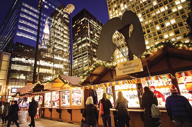 The Daley Plaza in Chicago becomes a German Christmas market from Nov. 16 to Dec. 24 when vendors offer German food, beverages, gifts and souvenirs. This is the 23rd year for the city's Christkindlmarkt. - PHOTO BY TRUE SHOT STUDIOS