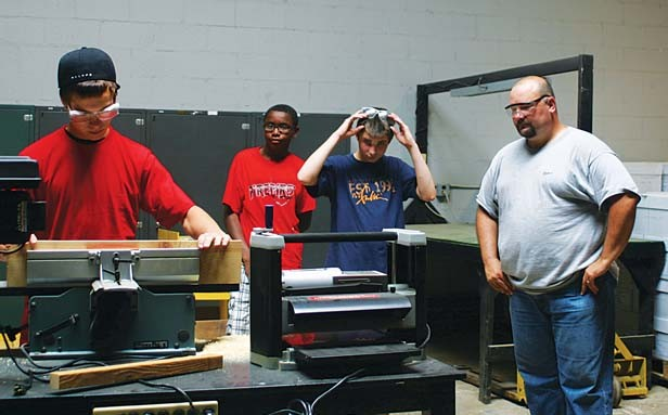 The Macon County Redeploy Illinois program promotes life skills like construction. - PHOTO BY HOLLY DILLEMUTH